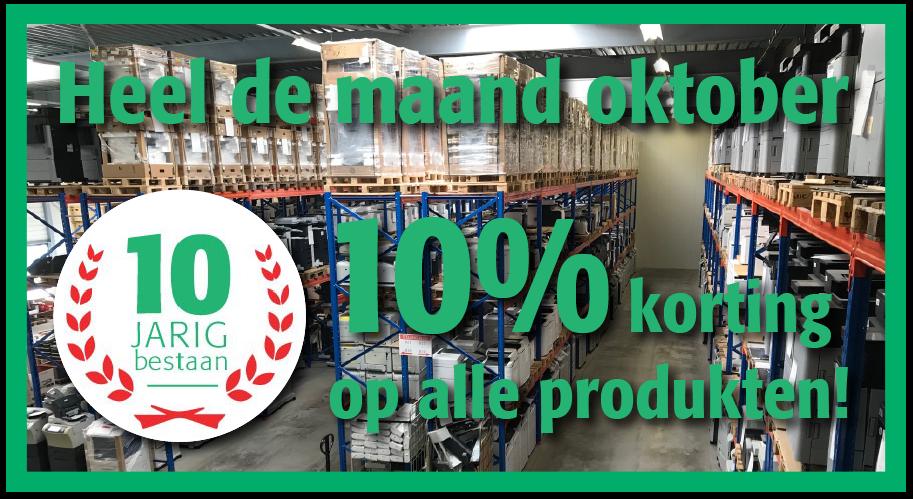 10 jaar - 10% korting op alle producten
