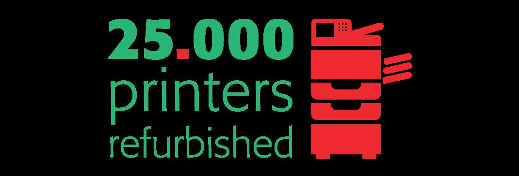 25.000 printers refurbished